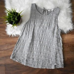 High Neck Striped Gray Madewell Tank